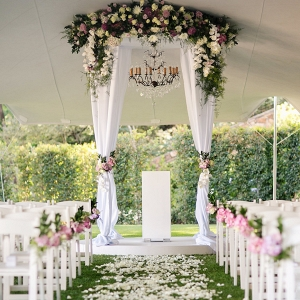 Classic Luxe Ceremony Decor