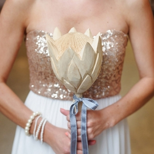 Bridesmaid with Wooden Protea