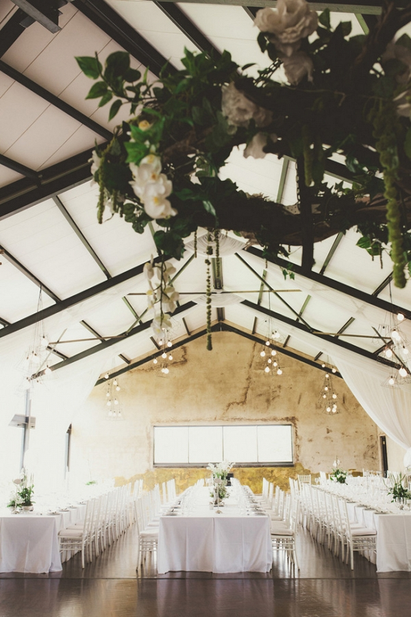 Classic Reception Decor with Floral Chandelier
