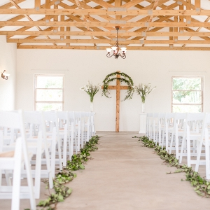 Ivy Lined Aisle