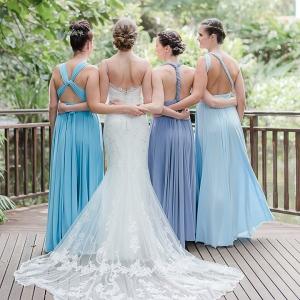 Blue Ombre Bridesmaids
