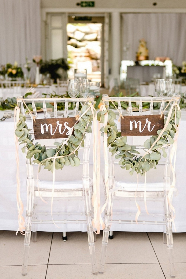 Chair Garlands and Mr & Mrs Signs