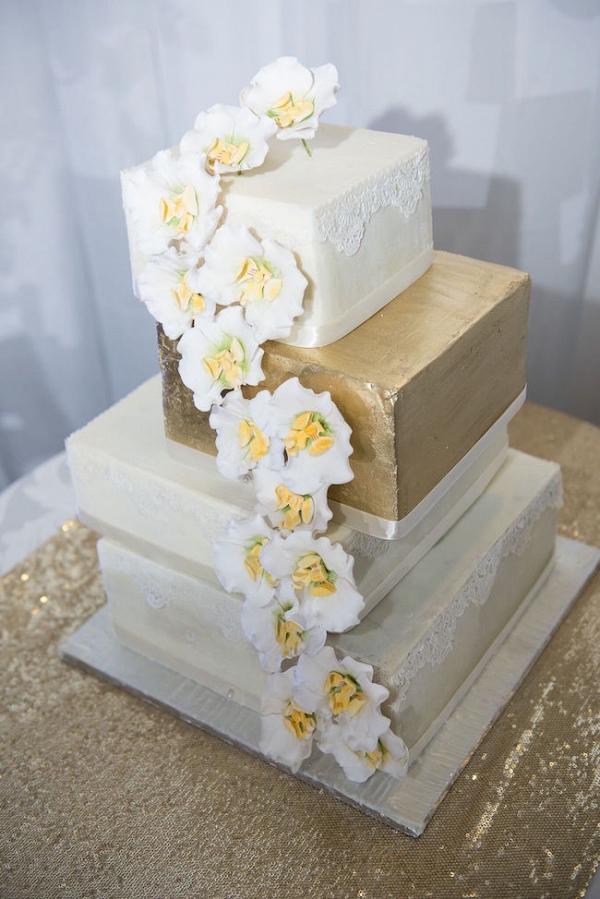Square Tiered Wedding Cake