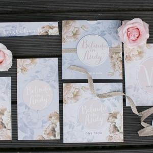 Pastel Wedding Invitation Suite