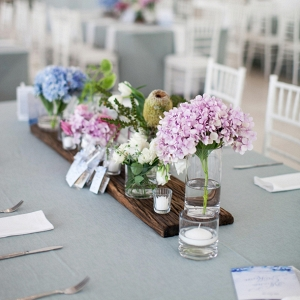 Tablescape with Pastel Centerpiece