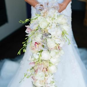 Orchid & Rose Cascade Bouquet