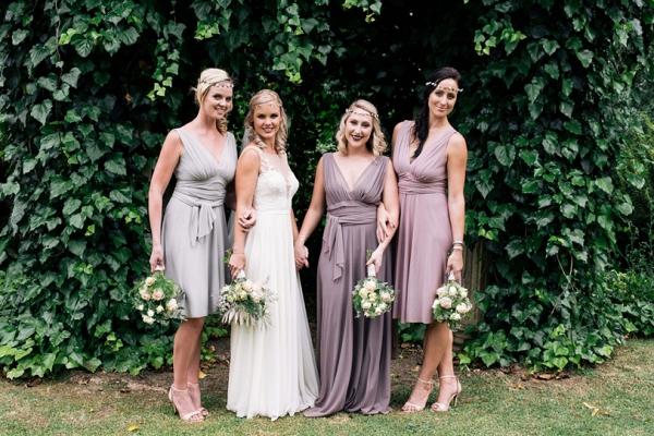 Mixed Pastel Purple Bridesmaid Dresses