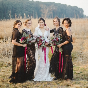 Black Lace Bridesmaids