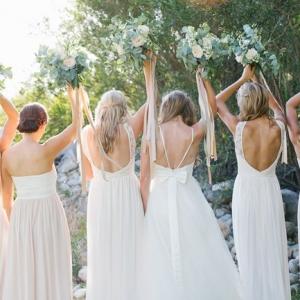 Bridesmaids back detail