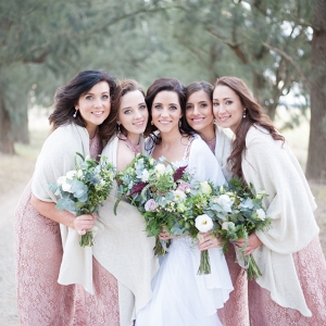 Bridesmaids with Shawl Wraps