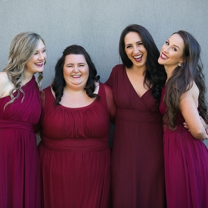 Mismatched Jewel Tone Bridesmaid Dresses