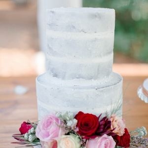 Semi-naked Cake with Flower Decoration