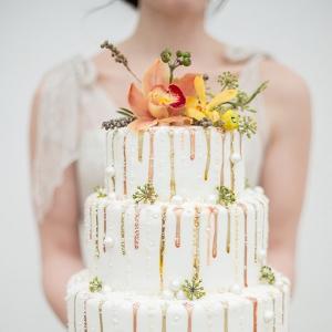 Metallic Drizzle Cake