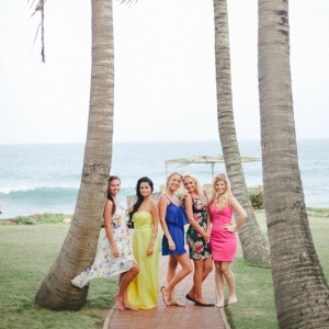 Colorful bridal shower dresses