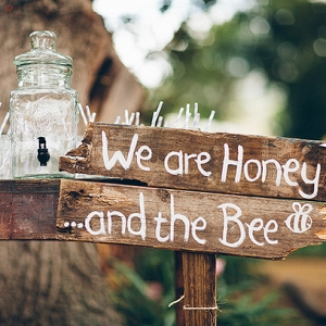 Honey and the Bee sign