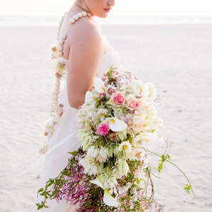 Blushing Bride Cascade Bouquet