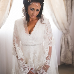 Boho Bride in Lace Dress