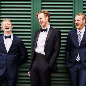 Well Fitted Groomsmen Tuxedos In Navy Villa Torricella Florence Wedding Studiobonon Photography