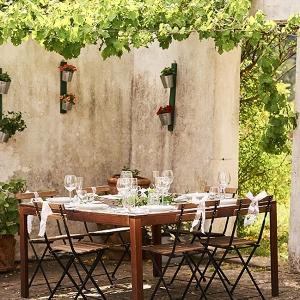 Al Fresco Reception Dining at Villa Torricella Florence Wedding Studiobonon Photography