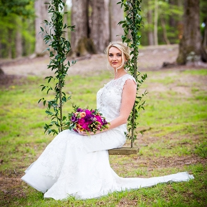 Jewel Tone Equestrian Wedding Swing Table Red Bridge Photography