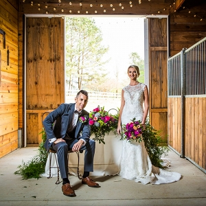 Jewel Tone Equestrian Wedding Stable Sweetheart Table Red Bridge Photography