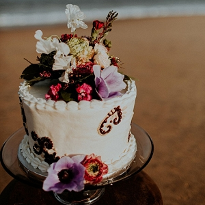 Jewel Tone Beach Wedding Cake The Hursts & Co