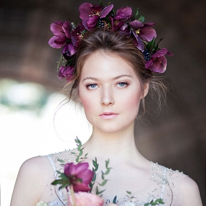 Oversized Floral Crown Art Nouveau Bridal Style Claudia McDade