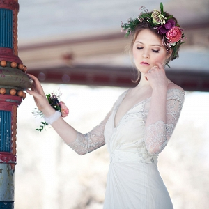 Dreamy Long Sleeve Rebecca Schoneveld Wedding Dress Featuring Art Nouveau Bridal Style Claudia McDade