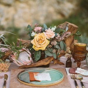 Science Inspired Geology Wedding Reception Tablescape DLillian Photography