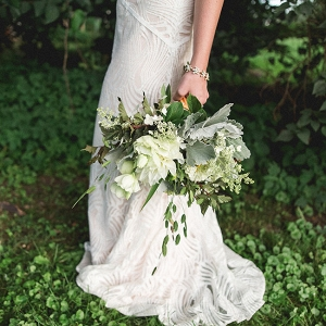 Green Infused Wedding Bouquet Upscale Orchard Wedding DiBlasio Photography