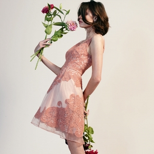 BHLDN Celestina Bridesmaid Dress in Vintage Rose