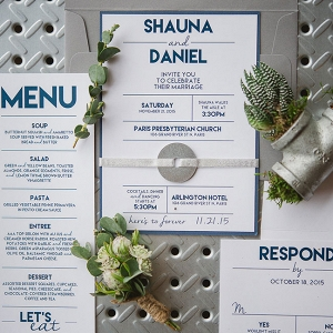 Modern Industrial Inspired Wedding Invitation Suite Wendy Alana Photography