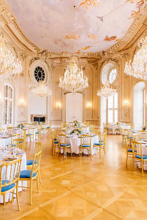 Rococo wedding reception space