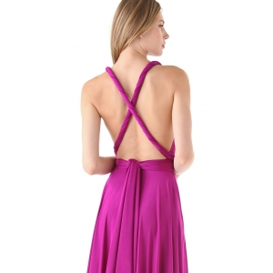 Convertible jersey dress for bridesmaids