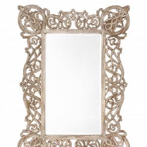 Ornate antiqued copper mirror