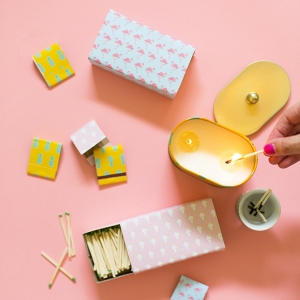 DIY matchbooks and boxes with bright summer prints