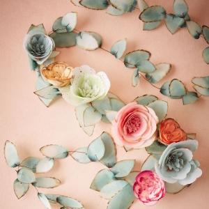 Faux floral garland
