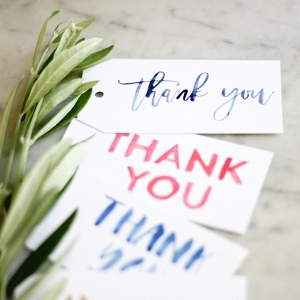 Free printable watercolor thank-you tags for favors and gifts