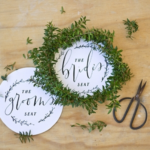 Free printable chair signs