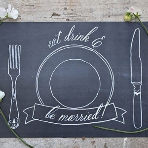 Free chalkboard placemat printable