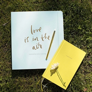 Tiffany blue and gold bridal planner from Kate Spade