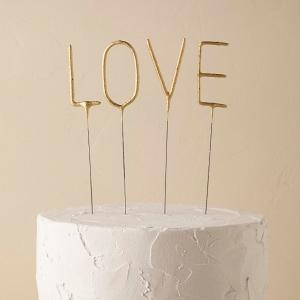 Love Sparkler Cake Topper