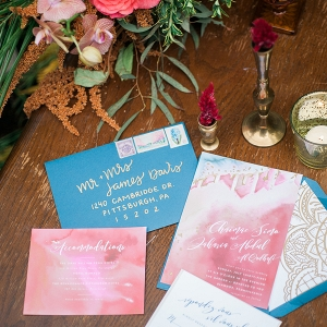 Moroccan-inspired wedding invitation