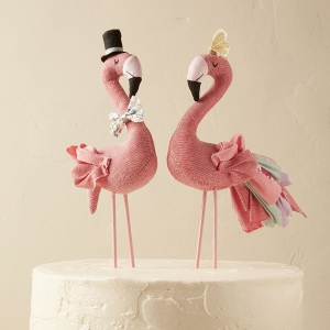Cotton Flamingo Cake Topper