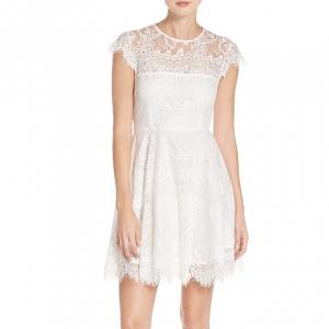 Illusion yoke lace dress