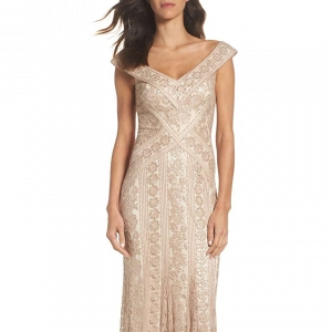 Sequined mother of the bride gown