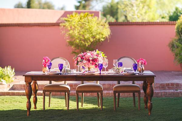 Alfresco dining at the Arizona Inn