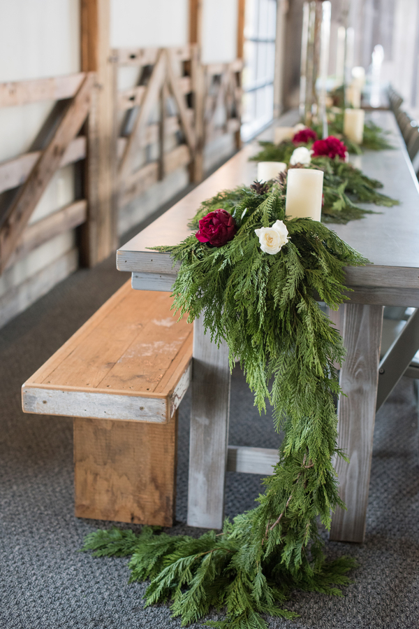 Evergreen table runner
