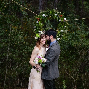 outdoor ceremony on The Budget Savvy Bride
