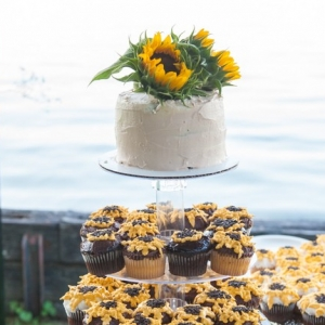 Sunflower Wedding Cake